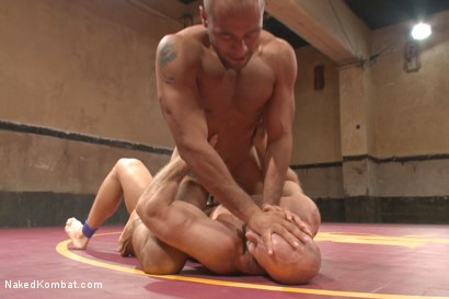 """Photo number 9 from """"Return of the Champion"""" - Summer Smackdown: 1st Semi Final Match shot for Naked Kombat on Kink.com. Featuring Mitch Vaughn and Leo Forte in hardcore BDSM & Fetish porn."""