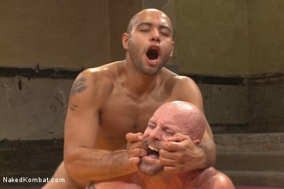 "Photo number 13 from ""Return of the Champion"" - Summer Smackdown: 1st Semi Final Match shot for Naked Kombat on Kink.com. Featuring Mitch Vaughn and Leo Forte in hardcore BDSM & Fetish porn."