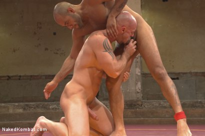 "Photo number 10 from ""Return of the Champion"" - Summer Smackdown: 1st Semi Final Match shot for Naked Kombat on Kink.com. Featuring Mitch Vaughn and Leo Forte in hardcore BDSM & Fetish porn."