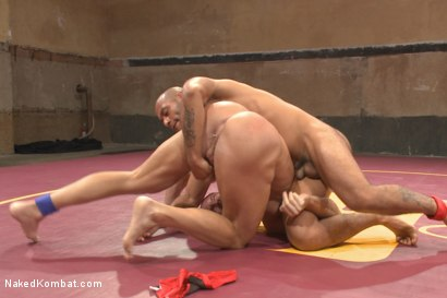 "Photo number 4 from ""Return of the Champion"" - Summer Smackdown: 1st Semi Final Match shot for Naked Kombat on Kink.com. Featuring Mitch Vaughn and Leo Forte in hardcore BDSM & Fetish porn."