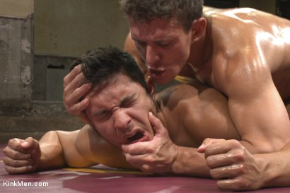 Photo number 15 from Two hot hunks wrestle to be top cock while the loser gets ass fucked! shot for KinkMen.com Test Shoots on Kink.com. Featuring Seth Santoro and Alexander Gustavo in hardcore BDSM & Fetish porn.