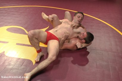 """Photo number 1 from Doug """"The Destroyer"""" Acre vs Scott """"The Marine"""" Harbor  shot for Naked Kombat on Kink.com. Featuring Doug Acre and Scott Harbor in hardcore BDSM & Fetish porn."""