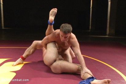 """Photo number 5 from Doug """"The Destroyer"""" Acre vs Scott """"The Marine"""" Harbor  shot for Naked Kombat on Kink.com. Featuring Doug Acre and Scott Harbor in hardcore BDSM & Fetish porn."""