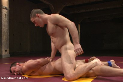 """Photo number 11 from Doug """"The Destroyer"""" Acre vs Scott """"The Marine"""" Harbor  shot for Naked Kombat on Kink.com. Featuring Doug Acre and Scott Harbor in hardcore BDSM & Fetish porn."""