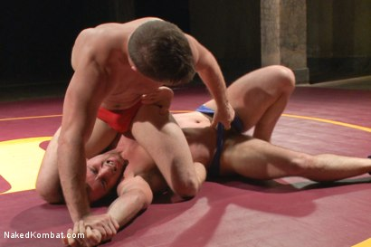 """Photo number 2 from Doug """"The Destroyer"""" Acre vs Scott """"The Marine"""" Harbor  shot for Naked Kombat on Kink.com. Featuring Doug Acre and Scott Harbor in hardcore BDSM & Fetish porn."""