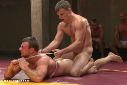 """Photo number 4 from Doug """"The Destroyer"""" Acre vs Scott """"The Marine"""" Harbor  shot for Naked Kombat on Kink.com. Featuring Doug Acre and Scott Harbor in hardcore BDSM & Fetish porn."""