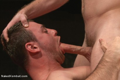 """Photo number 8 from Doug """"The Destroyer"""" Acre vs Scott """"The Marine"""" Harbor  shot for Naked Kombat on Kink.com. Featuring Doug Acre and Scott Harbor in hardcore BDSM & Fetish porn."""
