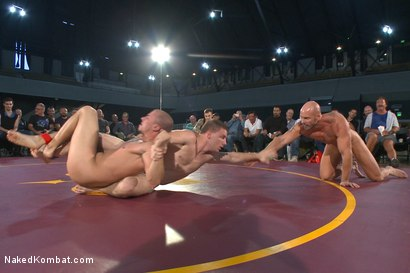 Photo number 6 from Beast & Hammer vs Machine & Destroyer - Live Tag Team Match shot for Naked Kombat on Kink.com. Featuring Mitch Vaughn, Tatum, Doug Acre and Eli Hunter in hardcore BDSM & Fetish porn.