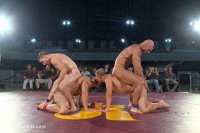Photo number 8 from Beast & Hammer vs Machine & Destroyer - Live Tag Team Match shot for Naked Kombat on Kink.com. Featuring Mitch Vaughn, Tatum, Doug Acre and Eli Hunter in hardcore BDSM & Fetish porn.