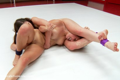 Photo number 13 from Feather Weight Championship Matchup shot for Ultimate Surrender on Kink.com. Featuring Serena Blair and Juliette March in hardcore BDSM & Fetish porn.