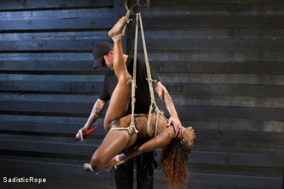 Photo number 11 from Ebony Slut Begs for Brutality shot for Sadistic Rope on Kink.com. Featuring Chanell Heart in hardcore BDSM & Fetish porn.