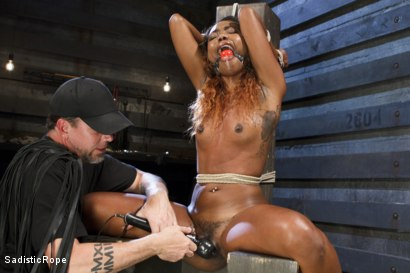 Photo number 14 from Ebony Slut Begs for Brutality shot for Sadistic Rope on Kink.com. Featuring Chanell Heart in hardcore BDSM & Fetish porn.