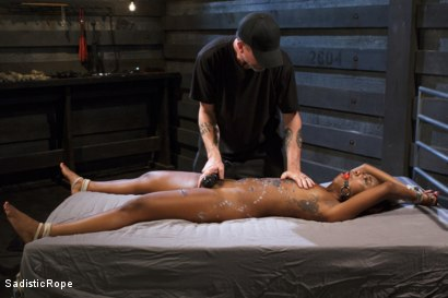 Photo number 15 from Ebony Slut Begs for Brutality shot for Sadistic Rope on Kink.com. Featuring Chanell Heart in hardcore BDSM & Fetish porn.