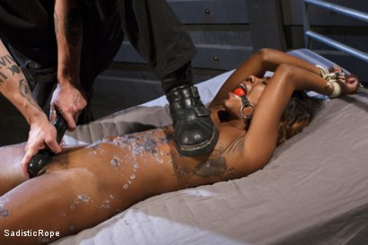 Photo number 2 from Ebony Slut Begs for Brutality shot for Sadistic Rope on Kink.com. Featuring Chanell Heart in hardcore BDSM & Fetish porn.