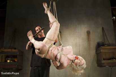 Photo number 14 from Young Blond in Extreme Bondage  shot for Sadistic Rope on Kink.com. Featuring Ella Nova in hardcore BDSM & Fetish porn.