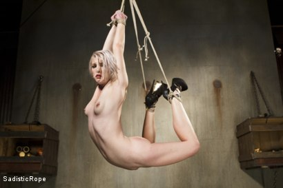Photo number 2 from Young Blond in Extreme Bondage  shot for Sadistic Rope on Kink.com. Featuring Ella Nova in hardcore BDSM & Fetish porn.