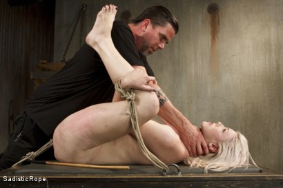 Photo number 5 from Young Blond in Extreme Bondage  shot for Sadistic Rope on Kink.com. Featuring Ella Nova in hardcore BDSM & Fetish porn.