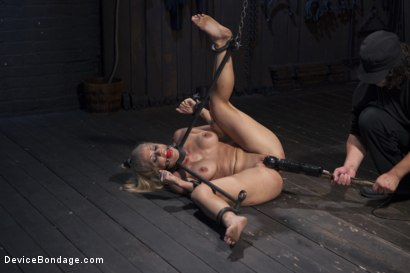 Photo number 5 from Blonde MILF Gets Devastated with Sensory Overload!! shot for Device Bondage on Kink.com. Featuring Holly Heart and Orlando in hardcore BDSM & Fetish porn.