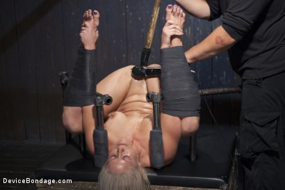 Photo number 13 from Blonde MILF Gets Devastated with Sensory Overload!! shot for Device Bondage on Kink.com. Featuring Holly Heart and Orlando in hardcore BDSM & Fetish porn.