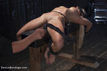 Photo number 6 from Blonde MILF Gets Devastated with Sensory Overload!! shot for Device Bondage on Kink.com. Featuring Holly Heart and Orlando in hardcore BDSM & Fetish porn.