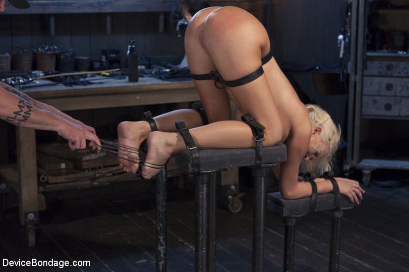 Hot blonde pain slut suffers 4