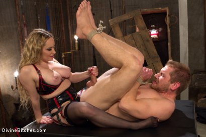 Photo number 3 from Sexual Slavery shot for Divine Bitches on Kink.com. Featuring Aiden Starr and Alex Adams in hardcore BDSM & Fetish porn.