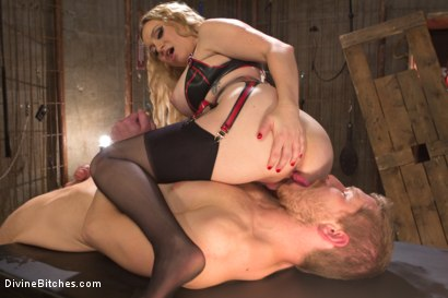 Photo number 4 from Sexual Slavery shot for Divine Bitches on Kink.com. Featuring Aiden Starr and Alex Adams in hardcore BDSM & Fetish porn.