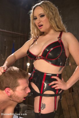 Photo number 12 from Sexual Slavery shot for Divine Bitches on Kink.com. Featuring Aiden Starr and Alex Adams in hardcore BDSM & Fetish porn.