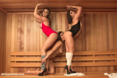 Photo number 1 from Sweaty Sadistic Lesbian Sauna shot for Whipped Ass on Kink.com. Featuring Chanel Preston, Lea Lexis and Katrina Zova in hardcore BDSM & Fetish porn.