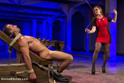 Photo number 2 from Chastity Cock Suck shot for Divine Bitches on Kink.com. Featuring Bella Rossi and Jason Miller in hardcore BDSM & Fetish porn.