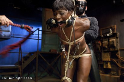 Photo number 8 from Ana's Orgasm Denial and Control, Day Three shot for The Training Of O on Kink.com. Featuring Ana Foxxx and Gage Sin in hardcore BDSM & Fetish porn.