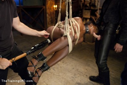 Photo number 9 from Ana's Orgasm Denial and Control, Day Three shot for The Training Of O on Kink.com. Featuring Ana Foxxx and Gage Sin in hardcore BDSM & Fetish porn.