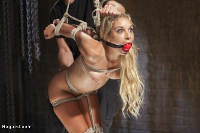 Photo number 12 from Never Been Bound 19 Year Old Slut Loves It shot for Hogtied on Kink.com. Featuring Carmen Caliente in hardcore BDSM & Fetish porn.