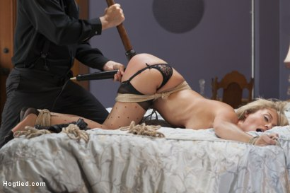 Photo number 9 from Desperate Girlfriend's Bondage Fantasy shot for Hogtied on Kink.com. Featuring Madelyn Monroe in hardcore BDSM & Fetish porn.