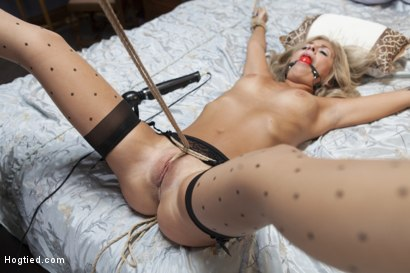 Photo number 11 from Desperate Girlfriend's Bondage Fantasy shot for Hogtied on Kink.com. Featuring Madelyn Monroe in hardcore BDSM & Fetish porn.