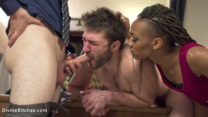 Photo number 4 from Cuckolding Therapy shot for Divine Bitches on Kink.com. Featuring Wolf Hudson, Nikki Darling and Abel Archer in hardcore BDSM & Fetish porn.
