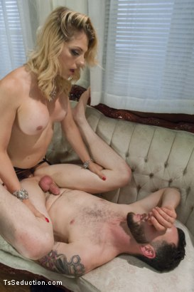 Photo number 10 from Mistress Tyra Scott Humiliates and Fucks a VERY Tight Ass Man slave shot for TS Seduction on Kink.com. Featuring Tyra Scott and Danny Oak in hardcore BDSM & Fetish porn.