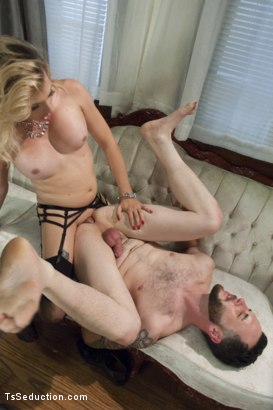 Photo number 7 from Mistress Tyra Scott Humiliates and Fucks a VERY Tight Ass Man slave shot for TS Seduction on Kink.com. Featuring Tyra Scott and Danny Oak in hardcore BDSM & Fetish porn.