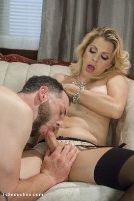 Photo number 8 from Mistress Tyra Scott Humiliates and Fucks a VERY Tight Ass Man slave shot for TS Seduction on Kink.com. Featuring Tyra Scott and Danny Oak in hardcore BDSM & Fetish porn.