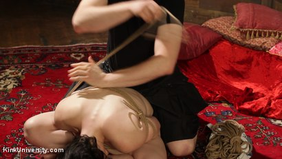 Photo number 13 from Intimate Connection Through Rope shot for Kink University on Kink.com. Featuring Tifereth and Cannon in hardcore BDSM & Fetish porn.