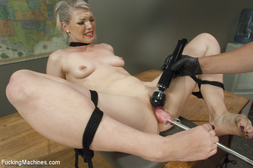 Tied up sex machine