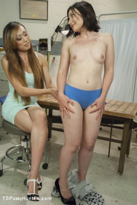 Photo number 2 from Plastic Surgeon Seduction - Venus Feels UP her Patient! shot for TS Pussy Hunters on Kink.com. Featuring Venus Lux and Amy Faye in hardcore BDSM & Fetish porn.