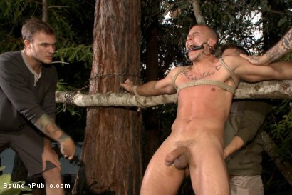 Photo number 10 from No one can hear you scream! shot for Bound in Public on Kink.com. Featuring Christian Wilde, Brock Avery and Eli Hunter in hardcore BDSM & Fetish porn.