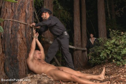 Photo number 1 from Officer Avery's Nightmare shot for Bound in Public on Kink.com. Featuring Christian Wilde, Brock Avery and Eli Hunter in hardcore BDSM & Fetish porn.