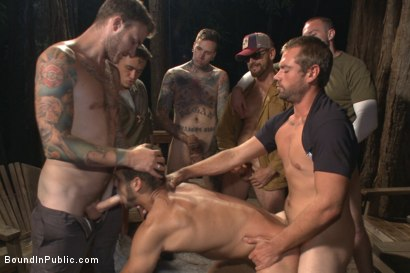 Photo number 13 from Officer Avery's Nightmare shot for Bound in Public on Kink.com. Featuring Christian Wilde, Brock Avery and Eli Hunter in hardcore BDSM & Fetish porn.