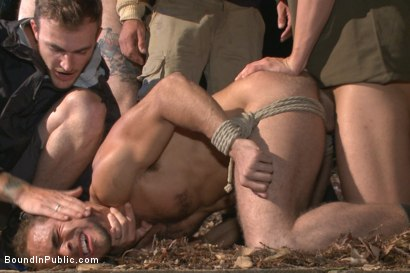 Photo number 9 from Officer Avery's Nightmare shot for Bound in Public on Kink.com. Featuring Christian Wilde, Brock Avery and Eli Hunter in hardcore BDSM & Fetish porn.