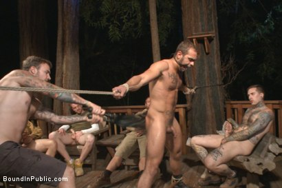Photo number 10 from Officer Avery's Nightmare shot for Bound in Public on Kink.com. Featuring Christian Wilde, Brock Avery and Eli Hunter in hardcore BDSM & Fetish porn.