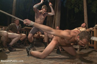 Photo number 11 from Officer Avery's Nightmare shot for Bound in Public on Kink.com. Featuring Christian Wilde, Brock Avery and Eli Hunter in hardcore BDSM & Fetish porn.