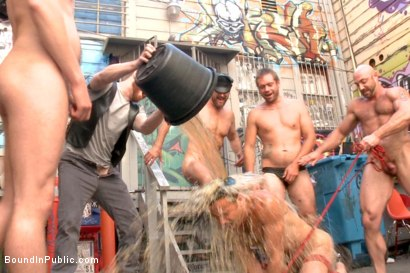 Photo number 14 from Pissed off landlord gangfucked into submission by horny party goers shot for Bound in Public on Kink.com. Featuring Jimmy Bullet, Leon Fox and Tatum in hardcore BDSM & Fetish porn.