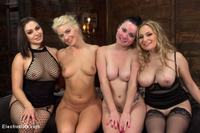 Photo number 12 from All Star Live Electro Orgasm Competition! shot for Electro Sluts on Kink.com. Featuring Veruca James, Anikka Albrite, Lea Lexis and Aiden Starr in hardcore BDSM & Fetish porn.